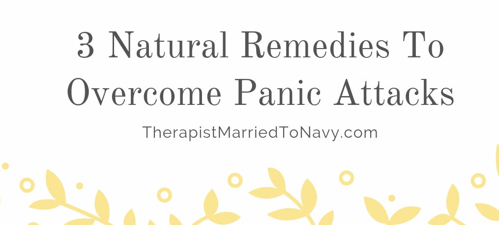 yellow flowers. natural remedies to overcome panic attacks